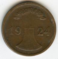 Allemagne Germany 2 Reichspfennig 1924 D J 314 KM 38 - 2 Rentenpfennig & 2 Reichspfennig