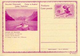 """Entier Postal De 1964 Sur CP Avec Timbre """"Olympiade D'Hiver à Innsbruck"""" - Série 38/4 - Entiers Postaux"""