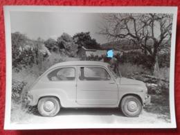 SPAIN ? ITALY ? ANTIGUA FOTOGRAFÍA FOTO OLD PHOTO COCHE AUTO VOITURE CAR AUTOMOBILE CARRO CREO SEAT 600 ? FIAT 500 ? VER - Automobiles