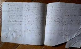 Parchemin Normandie 1626 Aveu  à Jacques De Monsures D'Auvilliers Dim 37 X 18 Cm - Manuscrits