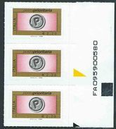 Italia 2008; Posta Prioritaria Senza Millesimo Da € 2,20. Terzina Con Codice Alfanumerico. - 6. 1946-.. Repubblica
