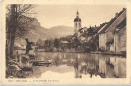 CPA Ornans Vue Prise En Aval - France