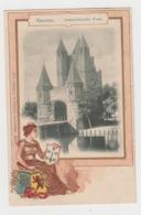 BB415 - PAYS BAS - HAARLEM - Amsterdamsche Poort. - Avec Illustration Gaufrée - Jeune Femme Et Blason - Schaefer - Haarlem