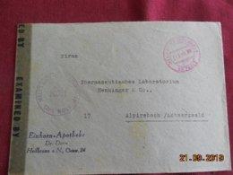 Lettre De 1946 De Heilbronn Pour Alpirsbach Avec Censure Militaire - Zone Anglo-Américaine