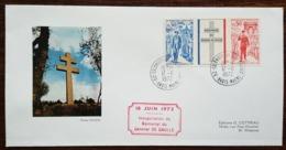 YT N°1696, 1697 - Inauguration Du Mémorial Du Général DE GAULLE - 1972 - France