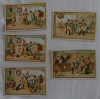LIEBIG - Lot De 5 Cartes - Tambour/Chien/Peintre/Gendarme/Juge - Voir 2 Scans - Liebig