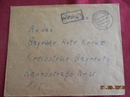Lettre De 1945 De Gossweinstein Pour Bayreuth - Zone Anglo-Américaine