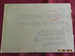 Lettre De 1945 De Lichtenfels Pour Wunsiedel - Zone Anglo-Américaine