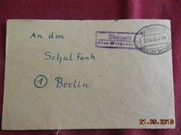 Lettre De 1945 De Weibenfels Pour Berlin - Zone Anglo-Américaine