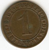 Allemagne Germany 1 Rentenpfennig 1924 D J 306 KM 30 - [ 3] 1918-1933 : Republique De Weimar