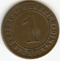 Allemagne Germany 1 Rentenpfennig 1924 D J 306 KM 30 - [ 3] 1918-1933 : República De Weimar