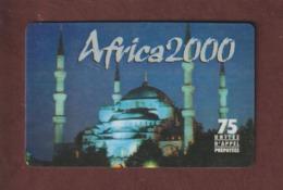 Carte De Téléphone  De 75 Unités D' Appel Prépayées - AFRICA 2000  - 2 Scannes. - Unknown Origin