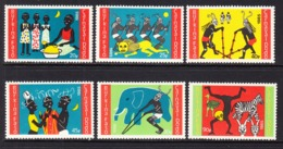 1985 Burkina Faso Carnaval Dodo Festival Culture Complete Set Of 6 MNH - Burkina Faso (1984-...)