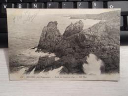Cpa  BEUZEC Roche De Castel-ar-Cos 1915 - Beuzec-Cap-Sizun