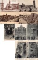 CP 51 Marne Reims Cathédrale Guerre Après Bombardement Portail école Médecine Vitraux - Reims
