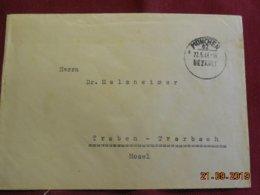Lettre De 1946 De Munich Pour Traben Trarbach - Zone Anglo-Américaine