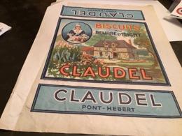 Grande Publicité Biscuits Au Beurre D Isigny Claudel Pont Hebert - Publicités