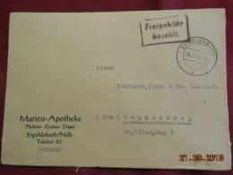 Lettre De 1946 De Ergoldsbach Pour Regensburg - Zone Anglo-Américaine
