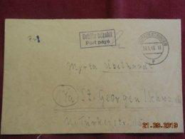 Lettre De 1946 De Donaueschingen Pour St George - Zone Anglo-Américaine