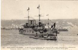 """Tematica Trasporti - Barche/Guerra - Napoli Aprile 1904  R. Nave """" Regina Margherita """" - - Guerra"""