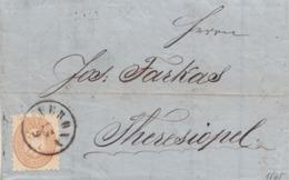 228 -LOMBARDO VENETO - 12 Settembre 1865- Lettera Con Testo Da Verona A Theresiopel Con 15 Soldi Bruno-isolato- - Lombardo-Veneto