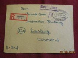 Lettre De 1947 De Sackingen Pour Duisburg En Recommandé - Zone Anglo-Américaine