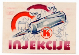 1937 YUGOSLAVIA, CROATIA, ZAGREB, KASTEL, PHARMACEUTICALS, INJECTIONS ADVERTISEMENT - Medicine