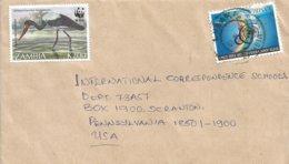 Zambia 1997 Lusaka Saddle-billed Stork WWF UN Cover - W.W.F.