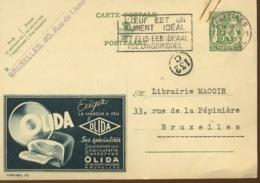 Puiblibel 316 De 1938. Une Bonne Omelette Au Jambon élida. (voir Flamme) - Stamped Stationery