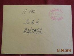 Lettre De 1945 De Augsburg Pour Bayreut - Zone Anglo-Américaine