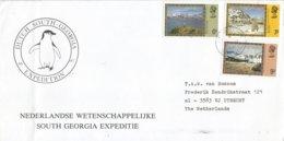 South Georgia 1987 Falklands Dependencies Shackleton's Grave Dutch Scientific Expedition Cover - Zuid-Georgia