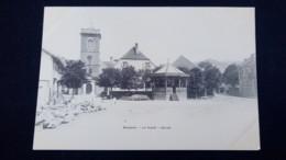 Bussang : La Place, Eglise / Carte Précurseur 1900 / Editions A. Breger - Bussang