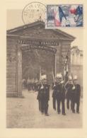 Carte  Maximum  FRANCE  150éme  Anniversaire   Ecole  Militaire  De  SAINT CYR    COËTQUIDAN   SAINT  CYR  L' ECOLE 1954 - Cartes-Maximum