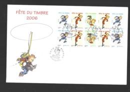 "T3877  Y & T  ""Fête Du Timbre Spirou"" 2 Scans  *FRANCE*  57/08 - France"