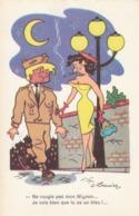 CPSM  Soldat Militaire Bleu Militaire Pin-up Sexy Girl Prostituée Prostitution Humour Illustrateur G. MEUNIER 2 Scans) - Meunier, G.