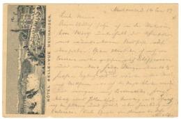 1889 - Rare Entier Postal 10c Repiqué Repiquage NEUHAUSEN Hotel Belle-Vue - Entiers Postaux
