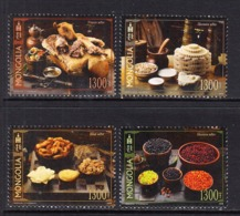 2018  Mongolia Cuisine Food Culture Complete Set Of 4  MNH - Mongolië