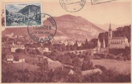 Carte  Maximum  1er  Jour    FRANCE   LOURDES   1954 - Cartes-Maximum