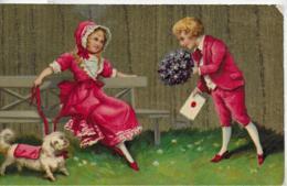 AK 0325  Gratulant - Liebeskundgebung / Künstlerkarte Um 1915 - Humorvolle Karten