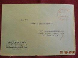 Lettre De 1947 De Kornwestheim Pour Wulsdorf - Zone Anglo-Américaine