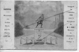 SOURDEVAL CARTE EN 2 VOLET INAUGURATION DU MONUMENT AUX MORTS L DIOR - France