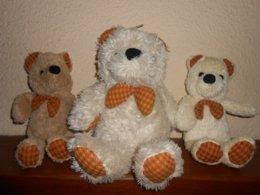 3 OURS - OURSON Meme Famille - Tout Doux - Cuddly Toys
