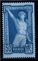 France 1924 - 8ème Olympiade Paris - YT N°186 - Neuf Avec Charnière - France