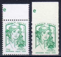 CIAPPA GOMMEE N° 4774 + CIAPPA ADHESIVE N° 1215  /  NEUVES BORD DE FEUILLE...... - 2013-... Marianne De Ciappa-Kawena