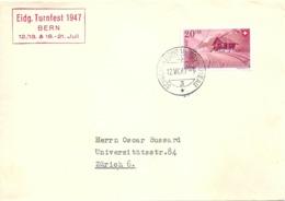"""Sonderstempel  """"Eidg. Turnfest Bern""""           1947 - Switzerland"""