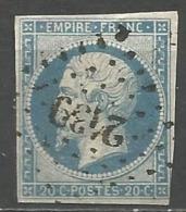FRANCE - Oblitération Petits Chiffres LP 2439 PIERRELATTE (Drôme) - Marcophilie (Timbres Détachés)