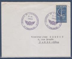 = Journée De L'Aérophilatélie Toulouse 5.XI.1966 Timbre 1490 Europa - Marcophilie (Lettres)