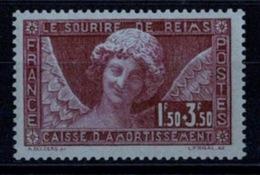 France 1930 - L'ange Au Sourire De La Cathédrale De Reims - YT N°256 - Neuf Avec Charnière - France
