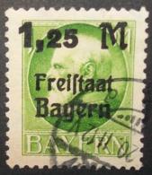 N°349E TIMBRE ANCIENS - ETATS BAYERN OBLITERE - Bavière