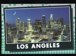 CPM Etats Unis LOS ANGEL7S A Crescent Moon Glows High Above The Illuminated City Of The Angels - Los Angeles